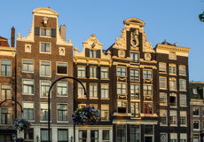 Traditional old buildings in Amsterdam. The Netherlands Royalty Free Stock Photography