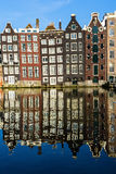 Traditional old buildings in Amsterdam, the Netherlands Stock Images