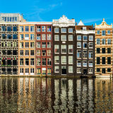Traditional old buildings in Amsterdam, the Netherlands Royalty Free Stock Images
