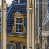 Traditional old buildings in Amsterdam. Royalty Free Stock Photography