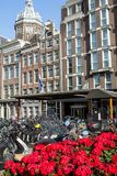 Traditional old buildings in Amsterdam. The Netherlands Stock Images