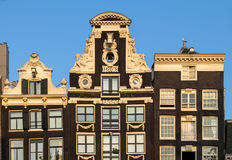 Traditional old buildings in Amsterdam. The Netherlands Royalty Free Stock Images