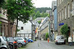 Traditional old buildings in Monschau Germany Royalty Free Stock Image
