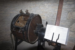 Traditional old churn in a ancient dairy, Jura, Franche-Comté, France Stock Photography