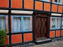 Traditional old classic decorative style Danish house home Denma Stock Photos