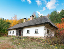 Traditional Old Clay Ukrainian Rural House Royalty Free Stock Image