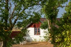 Old cottage on the island Oeland, Sweden stock photo