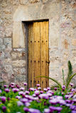 Traditional old door in the historic village Valldemosa in Majorca Stock Photography