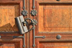 Traditional old door lock Stock Photography