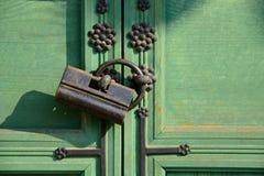 traditional old door lock Stock Image