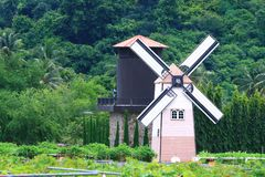 Traditional Old dutch windmill Royalty Free Stock Image