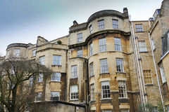 Traditional old England architecture, Bath, UK. Royalty Free Stock Photos