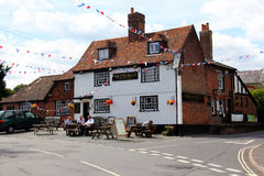 Traditional old English pub. Chelsfield, Kent, England. Circa July 2014.  Old traditional old village pub Stock Images