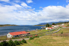 Traditional old farm, Beagle Channel, Argentina Stock Image