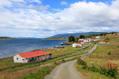 Traditional old farm, Beagle Channel, Argentina Stock Photos