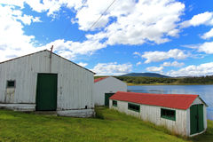 Traditional old farm, Beagle Channel, Argentina Stock Photography