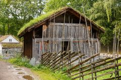 Traditional old farm house in Oslo. Traditional old wooden farm house in Oslo, Norway Royalty Free Stock Photos
