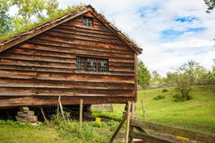 Traditional old farm house in Oslo stock photos