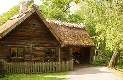 Traditional farmhouse in Sweden. Traditional old farmhouse at Skansen park, the first open-air museum and zoo, located on the island Djurgarden Royalty Free Stock Photos