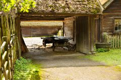 Traditional farmhouse in Sweden. Traditional old farmhouse at Skansen park, the first open-air museum and zoo, located on the island Djurgarden Royalty Free Stock Image
