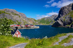 Fishing village Nusfjord Royalty Free Stock Image