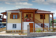 Traditional old Greek house Stock Photography