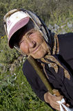 Traditional old Greek woman royalty free stock photography