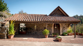 Traditional old house exterior. Traditional house exterior at the village of Figardou on Cyprus Stock Photos