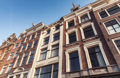 Traditional old houses of Amsterdam Royalty Free Stock Image