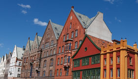 Traditional old Houses in Bergen, Norway Stock Photos