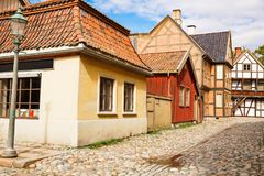 Traditional old houses in Oslo. Norway Royalty Free Stock Photos