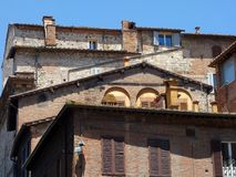 Traditional Old Italian Apartment Buildings, Sienna, Italy Royalty Free Stock Images