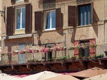Traditional Old Italian Apartment Buildings, Sienna, Italy Stock Photo