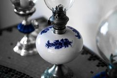 Traditional old light with petrol. Traditional bulb used in old times with petrol and fire royalty free stock photo