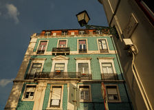 Traditional old Lissabon houses Royalty Free Stock Images