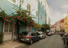 Traditional old Lissabon houses Stock Image