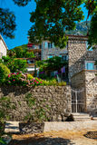 Traditional old mediterranean house. PERAST, MONTENEGRO - JUNE 21, 2017: Traditional old mediterranean house in Perast, Montenegro Royalty Free Stock Photo