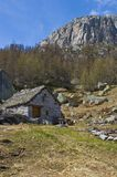 Traditional old montain chalet Stock Photography