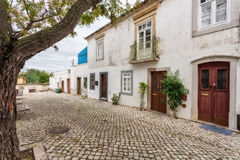 Traditional old Portuguese streets of Tavira. Royalty Free Stock Images