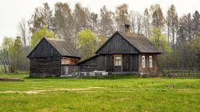 Traditional old rural wooden hut, Masuria, Poland, Europe Stock Image