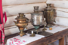 Traditional old Russian tea kettle Stock Image