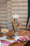 Traditional old Russian tea kettle Stock Images