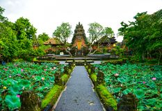 Traditional old sacred temple in Ubud Bali Indonesia royalty free stock photos