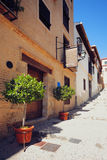 Traditional old Spanish street Royalty Free Stock Photos