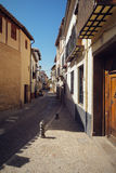 Traditional old Spanish street Royalty Free Stock Images