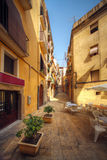Traditional old Spanish street Royalty Free Stock Photo