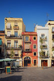 Traditional old Spanish street, Tarragona Stock Photo