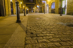 Traditional old stone road Stock Images
