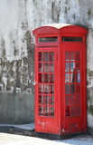 Traditional old style phone box Royalty Free Stock Photos