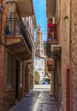 Traditional old style street in Greece Royalty Free Stock Photography
